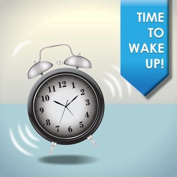 Time To Wake Up - Free vector #210195