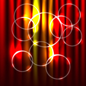 Abstract Red Background With Circles - vector gratuit #210275