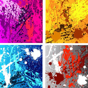 Colourful Grunge Messy Backgrounds - Free vector #210375