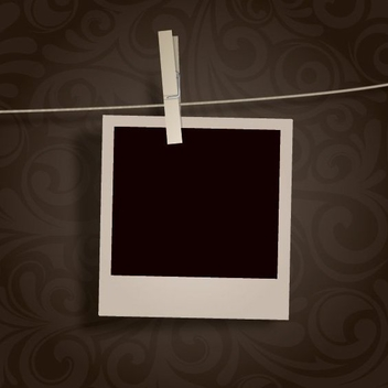 Blank Photo Hanging - vector gratuit #210425