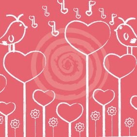 Singing Birds In Love - Free vector #210505