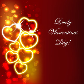 Valentines Day Red Design Background - vector gratuit #210635