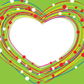 Valentines Day Heart Lines - Free vector #210645