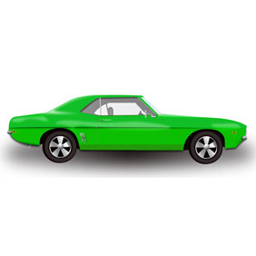 Green Hot Rod Car -Free Vector - бесплатный vector #210705