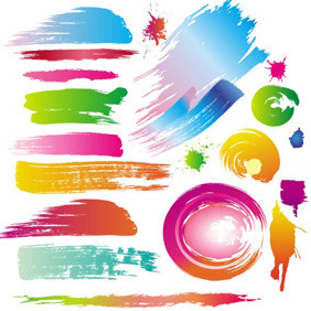 Paint Dabs Vector - Free vector #210775