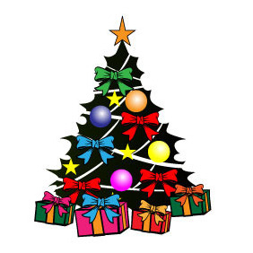 Colorful Christmas Tree Vector - vector gratuit #210785