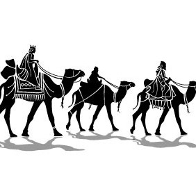 Three Kings Vector Image - бесплатный vector #210795
