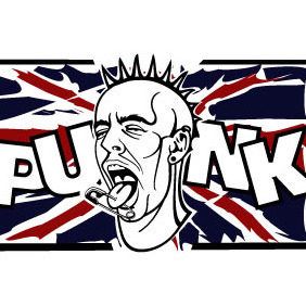 Punk Pierced Face Vector - Free vector #210805