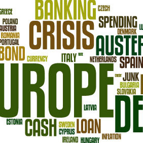 European Debt Crisis Word Cloud Vector Background - Free vector #210825
