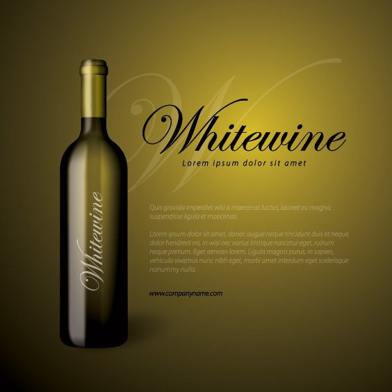 Whitewine botella - vector #211015 gratis