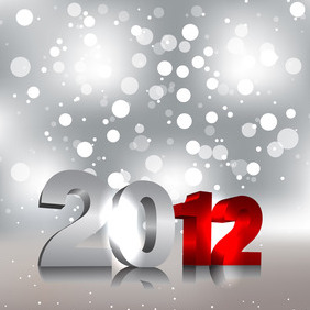 Glowing 2012 Numbers - vector gratuit #211205