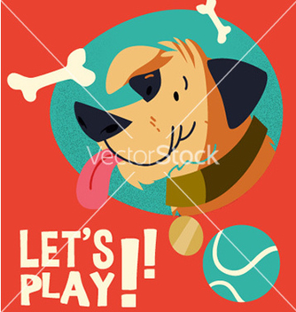 Free cartoon dog flat style design vector - vector gratuit #211225