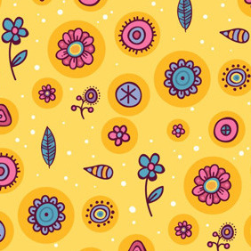 Cute Orange Pattern - vector #211235 gratis