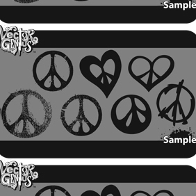 Free Peace Sign Vector Art - vector gratuit #211305