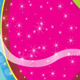 Colored Circled Background Free Illustred Vector - Free vector #211325