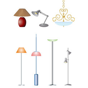 Electric Lamps- Free Vectors - Free vector #211385