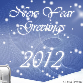 New Year Greetings - vector #211425 gratis