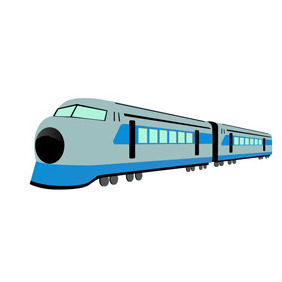 High Speed Train Free Vector Illustration. - vector gratuit #211435