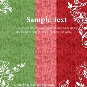 Greeting Card Design Template - vector #211465 gratis