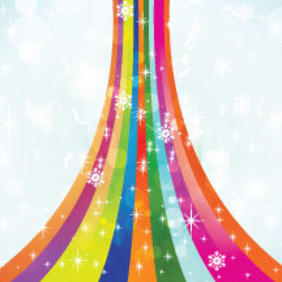 Colorful Snowy Vector Background - Kostenloses vector #211555