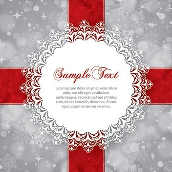 Winter Ornament - Free vector #211595