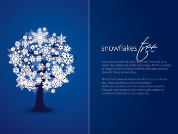 Snowflakes Tree Card - vector #211605 gratis