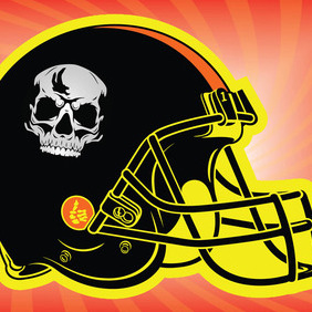 Football Helmet 2 - vector gratuit #211625