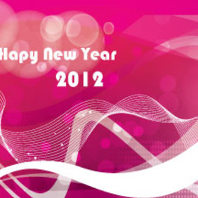 Red Pink Abstract Hapy New Year - Free vector #211735