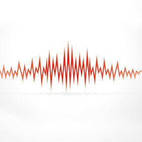 Red Audio Wave - vector gratuit #211825