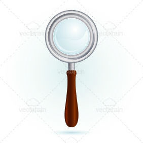 Magnifying Glass, Isolated - vector gratuit #211835