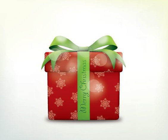 Merry Christmas Present - Free vector #211855
