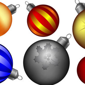 Christmas Ball Collection - vector gratuit #211865