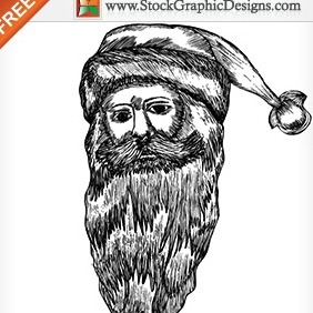 Christmas Santa Claus Free Vector Illustration - vector gratuit #212015