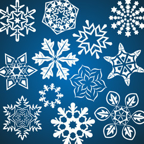 Winter Vector Snowflakes - Kostenloses vector #212035