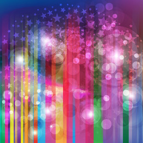 Abstract Glowing Rainbow Free Vector - Kostenloses vector #212055