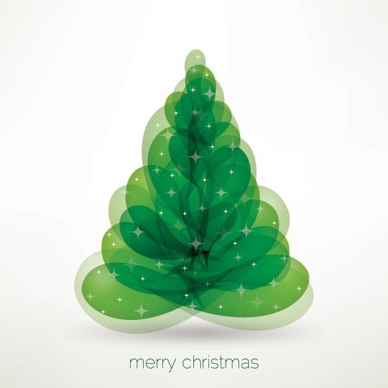 Merry Christmas Tree - Free vector #212135