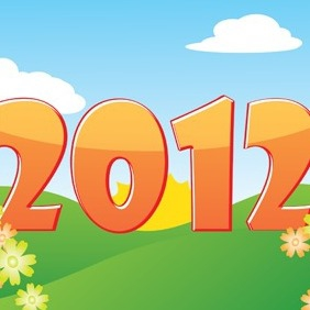 Happy 2012 - Free vector #212195