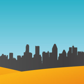 City Skyline - vector gratuit #212205