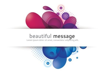 Beautiful Message - Free vector #212265