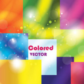 Blur Squared Background Colored Vector - бесплатный vector #212275