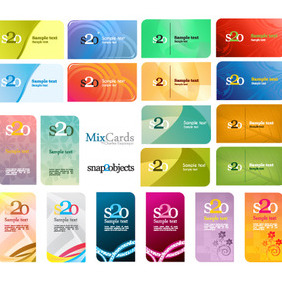 Free Vector Card Designs - Free vector #212295