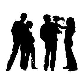 Familie silhouette - Kostenloses vector #212305