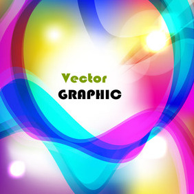 Abstract Colored Lighting Lines Vector Background - vector gratuit #212435