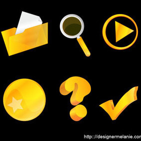 Another Free Gold Vector Icon Set (Part II) - бесплатный vector #212615
