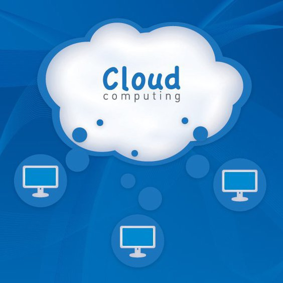 le cloud computing - vector gratuit #212665