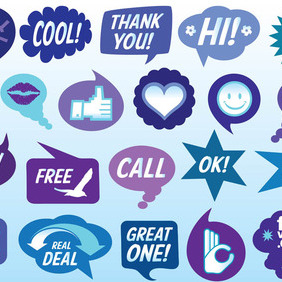 Speech Bubbles Vector - vector #212775 gratis