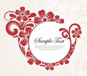 Stylish Flower Design - Kostenloses vector #212885