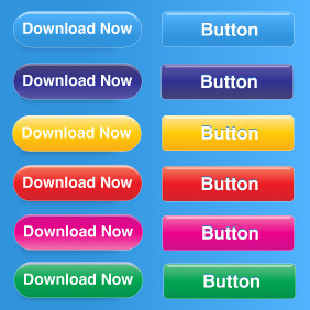 Free Button Set - Kostenloses vector #212895