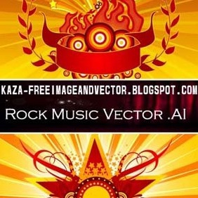 Rock Music Free Vector - vector gratuit #212935