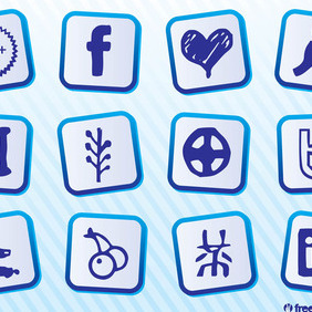 Social Media Graphics Pack - vector gratuit #212965